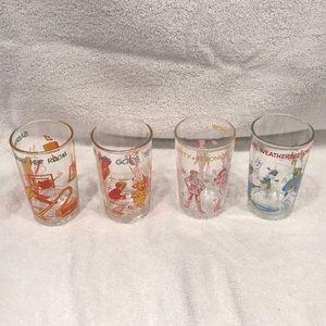 Vintage Archie Comic Juice Glasses